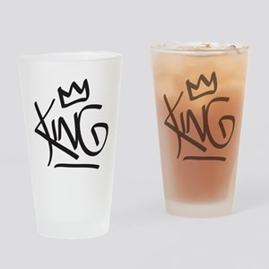 King Tag Drinking Glass