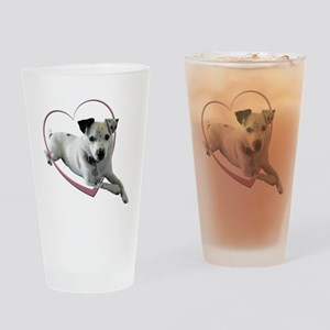 Love Jack Russell Dog Drinking Glass