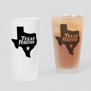 Texas Forever (White Letters) Drinking Glass