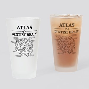 Atlas of a Dentist Brain Drinking Glass