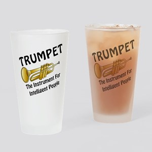 Trumpet Genius Drinking Glass