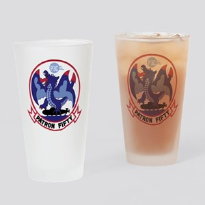 VP 50 Blue Dragons Drinking Glass