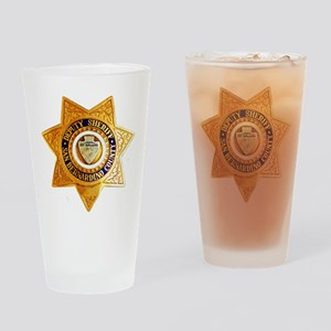 San Bernardino County Sheriff Drinking Glass