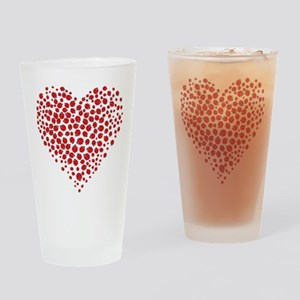Heart of Ladybugs Drinking Glass