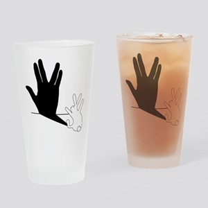 Star Trek Rabbit Vulcan Hand Shadow Drinking Glass