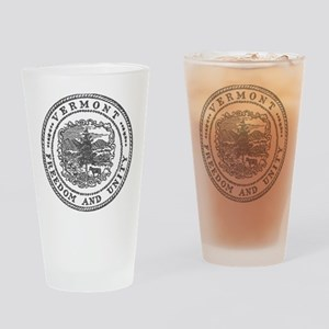 Vintage Vermont seal Drinking Glass