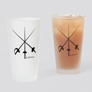 Three Weapon Drinking Glass
