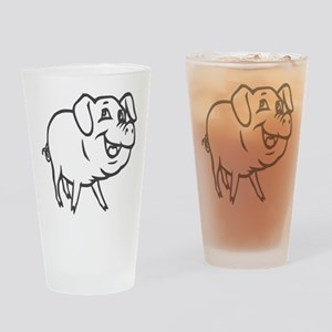 LITTLE PIG -curly tail Drinking Glass