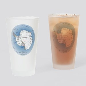 Antarctica labeled map Drinking Glass