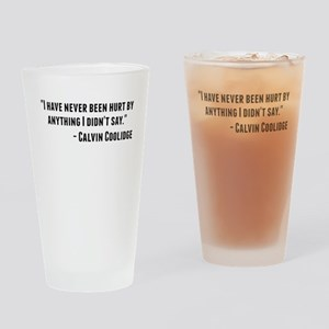Calvin Coolidge Quote Drinking Glass