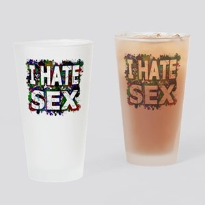 I Hate Sex (Ink Spots) Drinking Glass