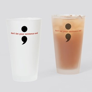 Semicolon Drinking Glass