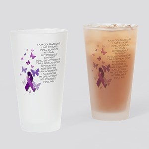 I am Strong Drinking Glass