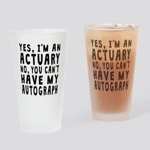 Actuary Autograph Drinking Glass