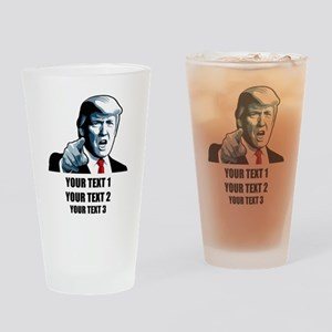 Copyrighted Personalized Trump Drinking Glass