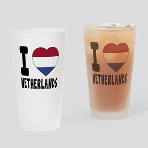 I Love Netherlands Drinking Glass