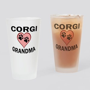 Corgi Grandma Drinking Glass