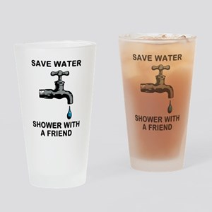 Shower With Friend Drinking Glass