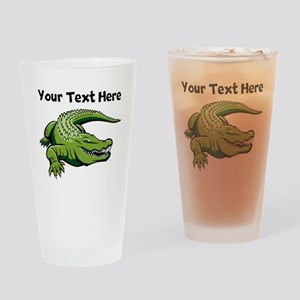 Green Alligator Drinking Glass