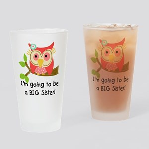 Owl Future Big Sister Drinking Glass