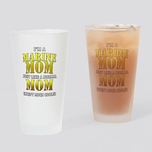 Cool Marine Mom Drinking Glass