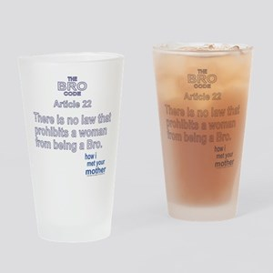 HIMYM BRO CODE 22 Drinking Glass