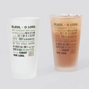 Blessing For Beer In Green Drinking Glass