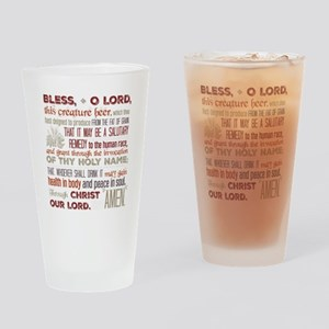 Blessing For Beer Drinking Glass In Red