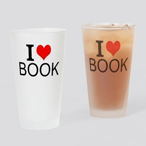 I Love Books Drinking Glass