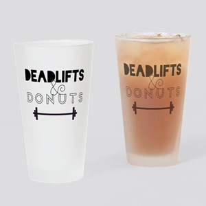 Deadlifts & Donuts Drinking Glass