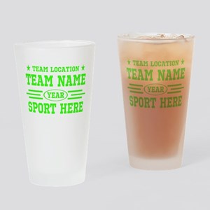 Personalized Your Team Your Text Drinking Glass