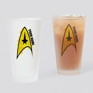 Star Trek Logo Personalized Drinking Glass