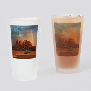 Rainbow In Grand Canyon Drinking Glass
