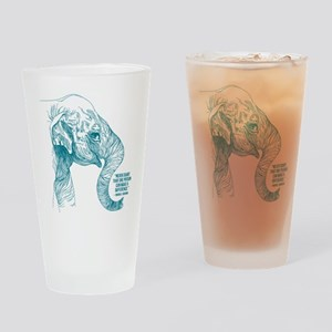 One Can Make A Difference Elephant Drinking Glass