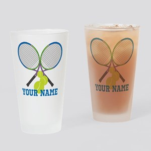 Personalized Tennis Player Drinking Glass