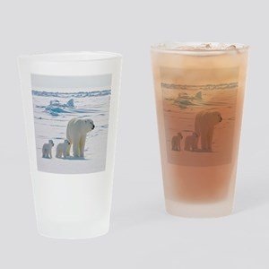 Polar Bears Drinking Glass