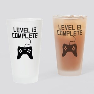 Level 13 Complete 13th Birthday Drinking Glass
