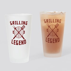 Grilling Legend Drinking Glass