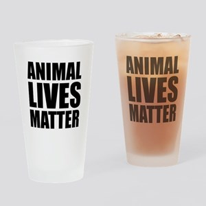 Animal Lives Matter Drinking Glass