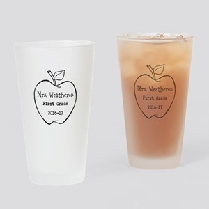 Personalized Teachers Apple Drinking Glass