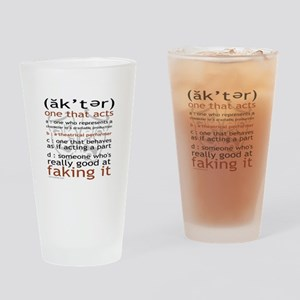 Actor (ak'ter) Meaning Drinking Glass
