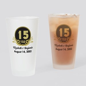 15th Anniversary Personalized Gift Idea Drinking G
