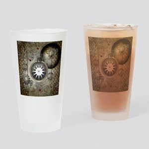 Steampunk, clocks and gears Drinking Glass