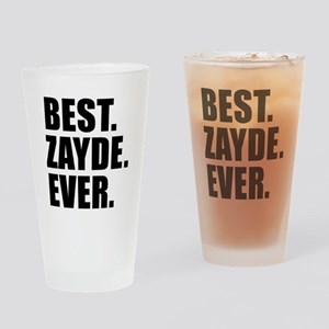 Best Zayde Ever Drinkware Drinking Glass