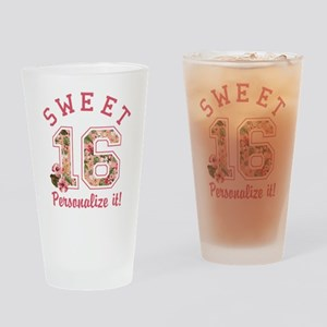 PERSONALIZED Sweet 16 Drinking Glass