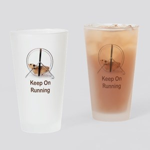 Keep On Running Drinking Glass