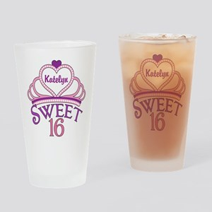Sweet 16 Custom Drinking Glass