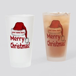Santa Hat Drinking Glass