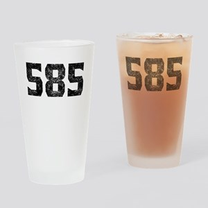 585 Rochester Area Code Drinking Glass