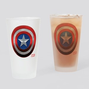 Captain America Grunge Drinking Glass